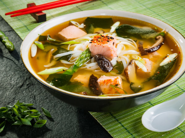 Spicy Salmon Soup